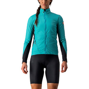 Castelli Unlimited Puffy jakke Dame turkis/Svart turkis/Svart