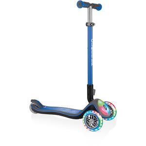 Globber Elite Deluxe Roller mit Batterielosen LED Rollen Kinder blau blau
