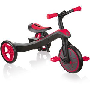 Globber Explrr Trike 2in1 Barn svart/röd svart/röd
