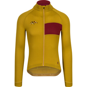 Isadore Dolomiti Adventure Long Sleeve Jersey Men, jaune/rouge jaune/rouge