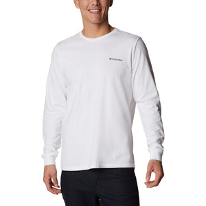 Columbia Pikewoo Graphic Long Sleeve Top Men, wit wit