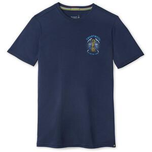 Smartwool Merino Sport 150 Ice Axe Descent Graphic Shortsleeve Shirt Men, bleu bleu