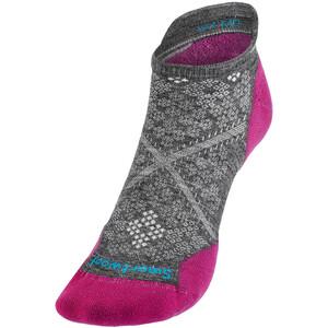 Smartwool Run Targeted Cushion Low Ankle Socks Women, gris/rosa gris/rosa