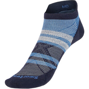 Smartwool Run Zero Cushion Pattern Low Ankle Socks blå blå