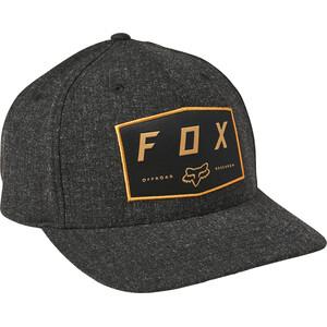 Fox Badge Flexfit Hat Men, zwart zwart