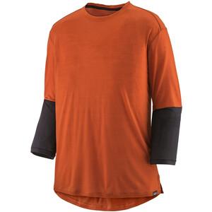 Patagonia Merino 3/4-Arm Fahrradtrikot Herren orange orange