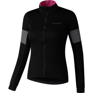 Shimano Kaede Wind Insulated Langarm Trikot Damen schwarz schwarz