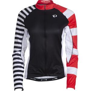 PEARL iZUMi Elite LTD Thermal LS Jersey Women stripes black/screaming red stripes black/screaming red