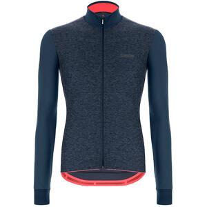 Santini Colore Puro Maglia jersey a maniche lunghe Uomo, blu blu