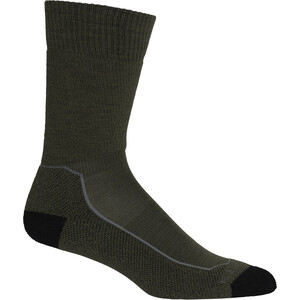 Icebreaker Hike+ Medium Crew Socks Men, oliivi/musta oliivi/musta