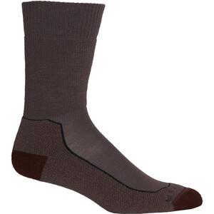 Icebreaker Hike+ Calcetines Corte Medio Hombre, violeta/marrón violeta/marrón
