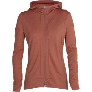 Icebreaker Quantum III LS Zip Hoodie Women, marrón marrón