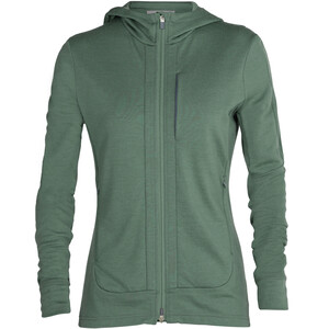 Icebreaker Quantum III LS Zip Hoodie Women, verde verde