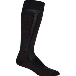 Icebreaker Ski+ Medium OTC Socks Women jet heather/espresso/black jet heather/espresso/black
