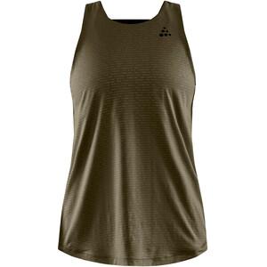 Craft Faun Open-Back Singlet Women, oliwkowy oliwkowy
