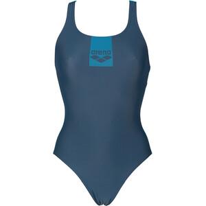 arena Basics Pro Back One Piece Swimsuit Women, niebieski niebieski