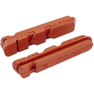 Kool Stop Dura Type Brake Pads for Aluminum Rims röd röd