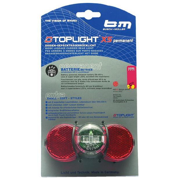 Busch + Müller D-Toplight XS Baklys black/red