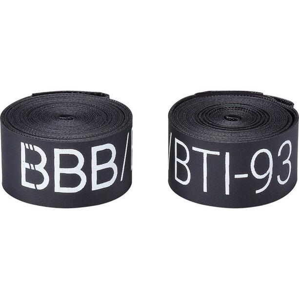 """BBB BTI-91/92/93 Rubans de jante 28/26"""", noir"""