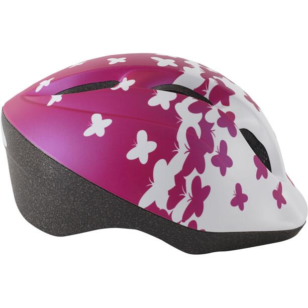 MET Superbuddy Helm Kinder pink butterflies