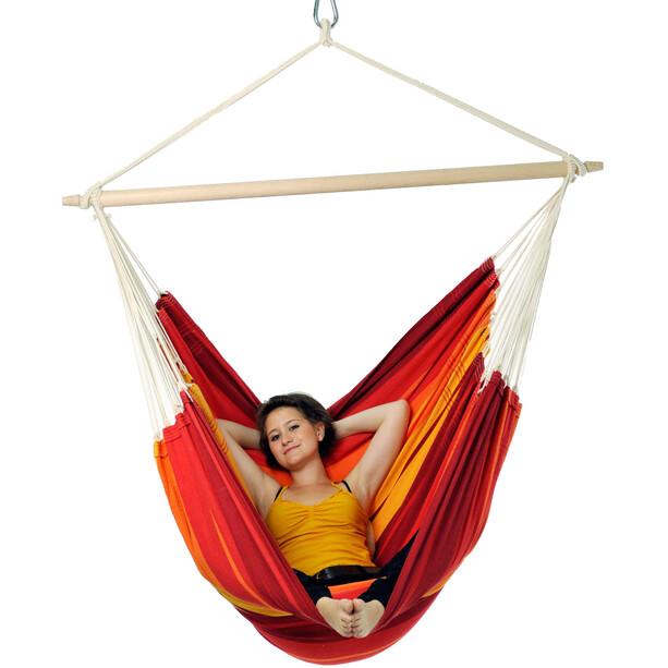 Amazonas Gigante Chaise suspendue, rouge/jaune