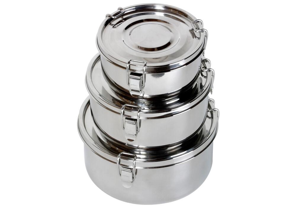 Relags contenitore alimentare acciaio inox stoviglie for Utensili da cucina in acciaio