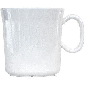 Waca Becher Melamin 400ml weiß weiß