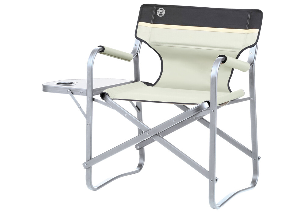 Coleman Deck Chair Camp Stool With Tablet Beige At