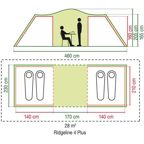 Coleman Ridgeline 4 Plus Zelt