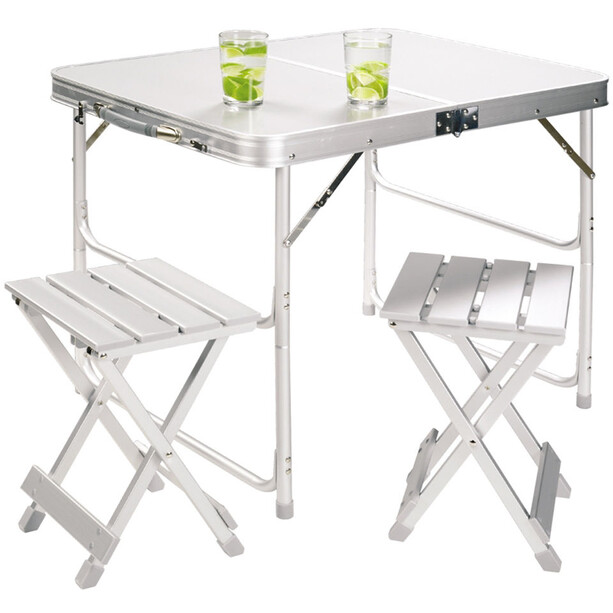 Grand Canyon Alu Koffertisch 2er-Set silber