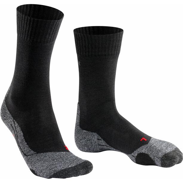 Falke TK2 Trekking Socken Damen schwarz/grau
