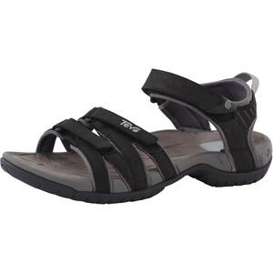 Teva Tirra Leather Sandalen Damen schwarz/weiß schwarz/weiß