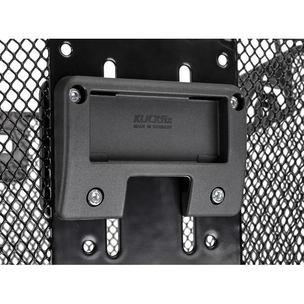 KlickFix Uni Cykelkurv med lampe holder, sort