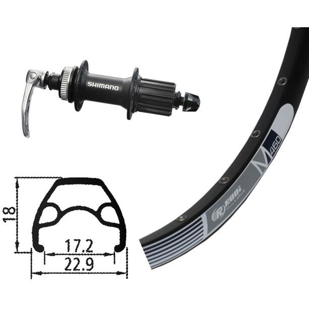 Rodi M460 Hinterrad Hinterrad, 26x1.9, 32L, Disc, mit Alivio 435 Centerlock schwarz