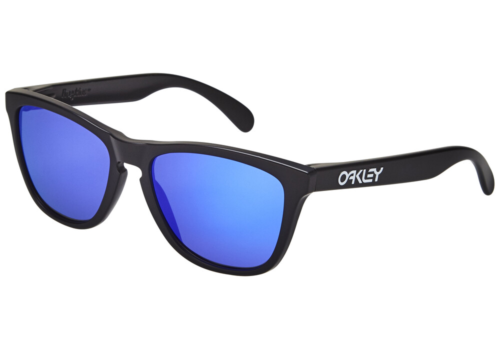 oakley frogskins brille matte black violet iridium g nstig. Black Bedroom Furniture Sets. Home Design Ideas