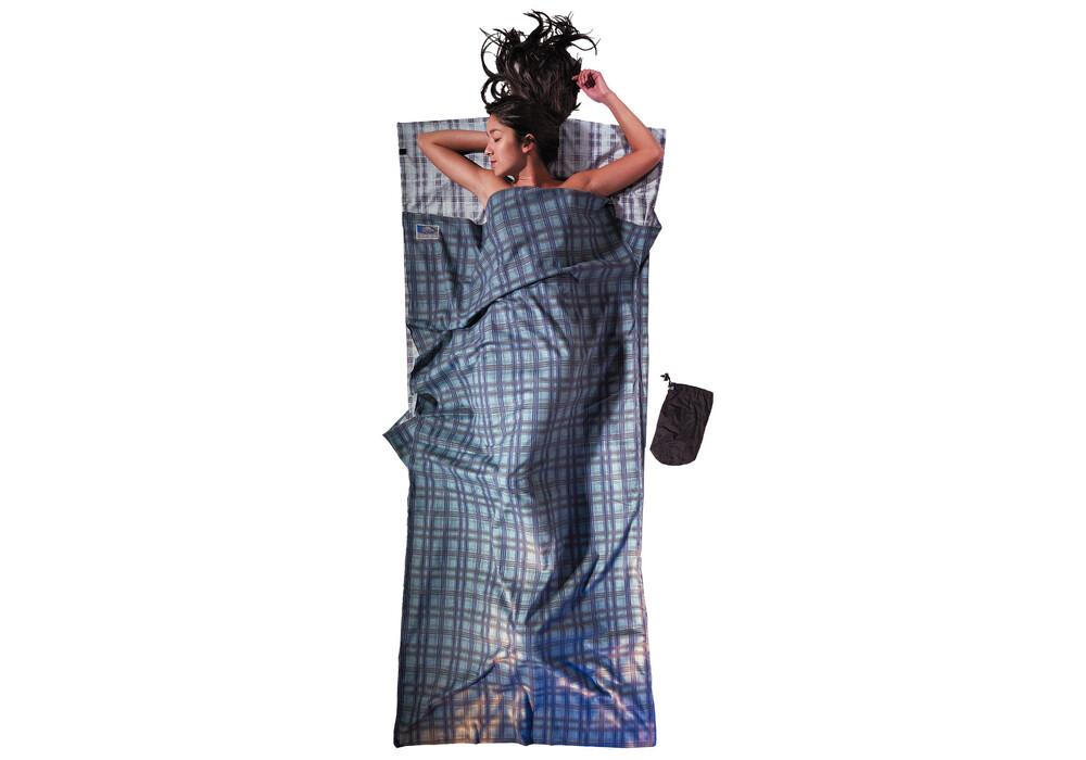 cocoon drap sac de couchage coton flanelle vert sur. Black Bedroom Furniture Sets. Home Design Ideas