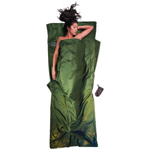 Cocoon TravelSheet Silk dark olive green dark olive green