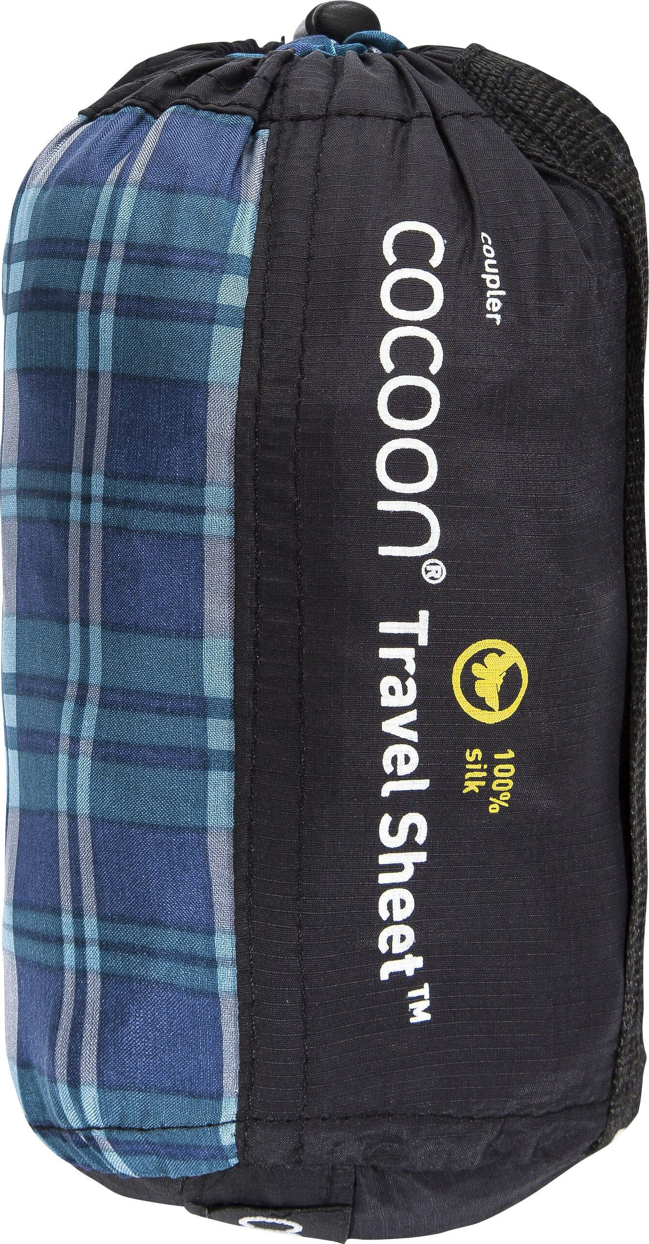 cocoon drap sac de couchage coupler soie bleu boutique de v los en ligne. Black Bedroom Furniture Sets. Home Design Ideas
