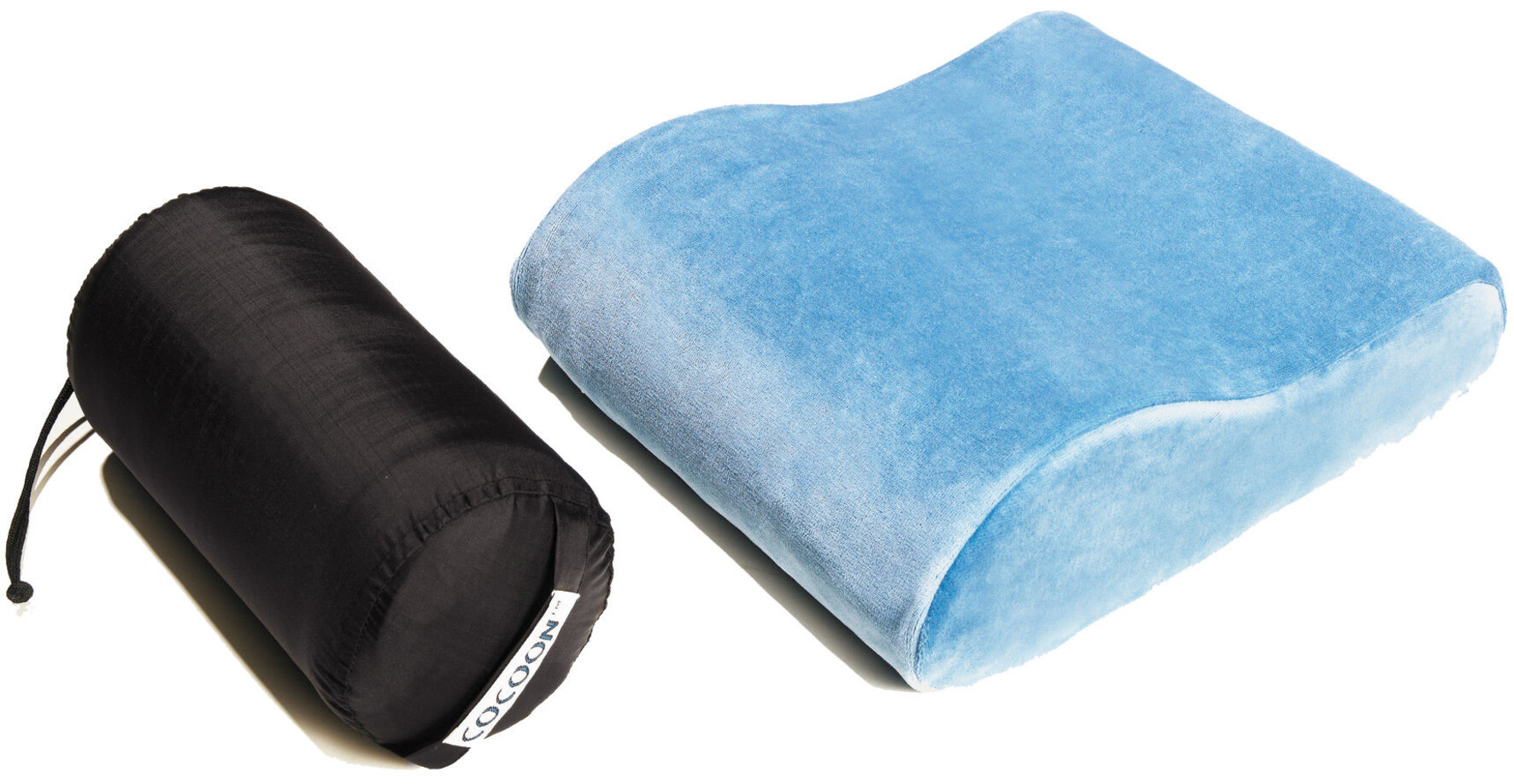 cocoon memory foam travel pillow blue at. Black Bedroom Furniture Sets. Home Design Ideas