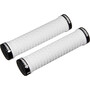 SRAM Locking Grips with Double Clamps & End Plugs, white