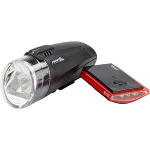 Red Cycling Products Bike Eye LED Beleuchtungs Set schwarz schwarz