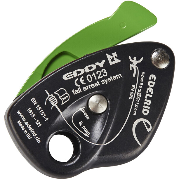 Edelrid Eddy Sicherungsgerät schwarz/grün