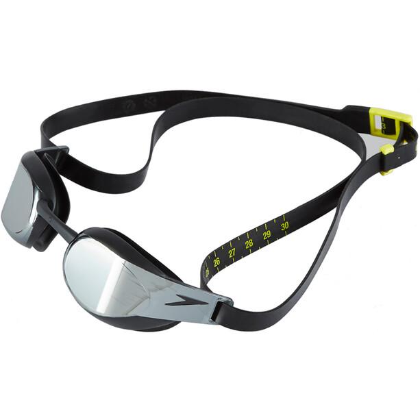 speedo Fastskin Elite Mirror Goggles black/dark chrome