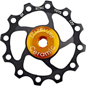 KCNC Jockey Wheel 12 Zähne Ceramic Bearing schwarz schwarz