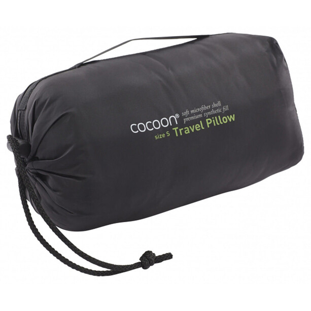 Cocoon Travel Pillow Microfiber/Nylon Shell Synthetic Fill Medium charcoal/smoke grey