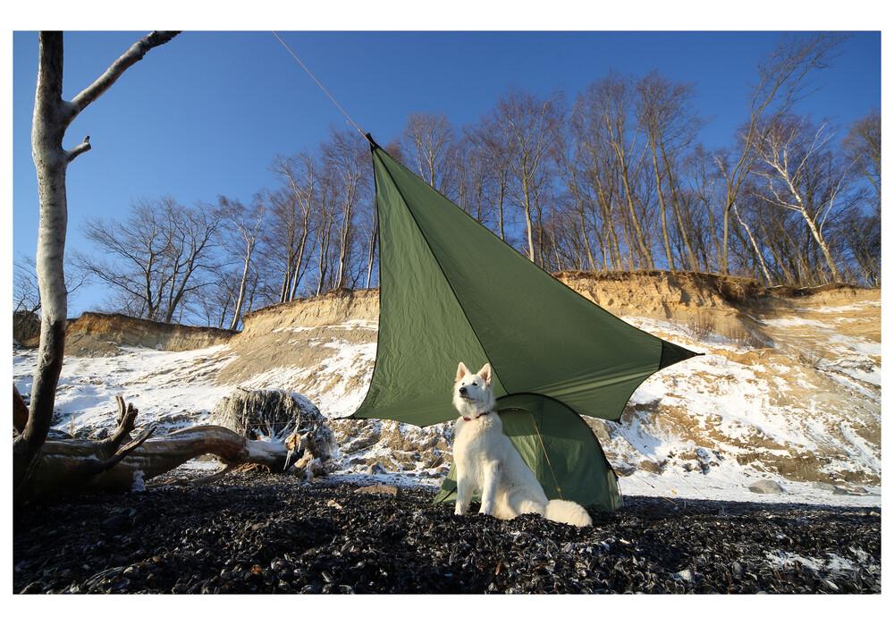 Lona parasol nordisk voss diamond pu verde - Refugios y parasoles camping ...