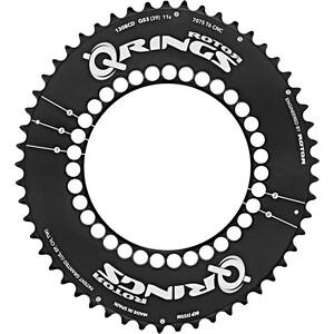 Rotor Q-Ring Road Aero Kettenblatt 130mm 5-Arm außen schwarz schwarz