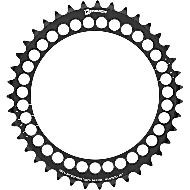 Rotor Q-Ring Road Chainring 130mm 5-Arm inside black