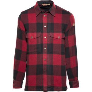 Fjällräven Canada Pitkähihainen paita Miehet, punainen/musta punainen/musta