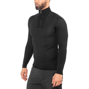Woolpower 200 Zip Turtle Neck black black